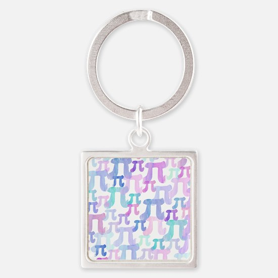 Watercolor Pi Keychains