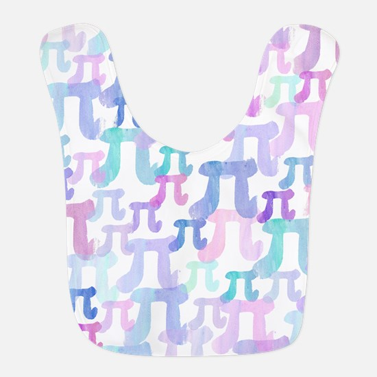 Watercolor Pi Bib