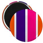 Orange, purple and pink stripes Magnets