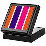 Orange, purple and pink stripes Keepsake Box