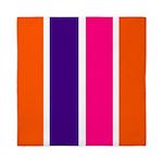 Orange, purple and pink stripes Queen Duvet