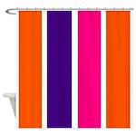 Orange, purple and pink stripes Shower Curtain