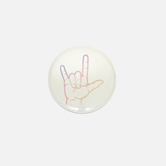 Pastel I Love You Mini Button