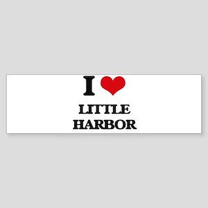 I Love Little Harbor Bumper Sticker