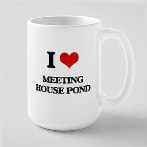 I Love Meeting House Pond Mugs