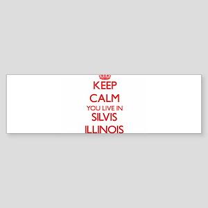Keep calm you live in Silvis Illino Bumper Sticker