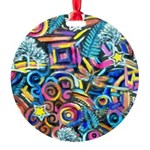 Curleys & Dragonflies Round Ornament