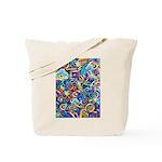 Curleys & Dragonflies Tote Bag