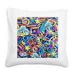 Curleys & Dragonflies Square Canvas Pillow