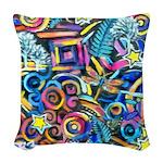 Curleys & Dragonflies Woven Throw Pillow