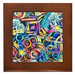 Curleys & Dragonflies Framed Tile