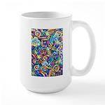 Curleys & Dragonflies Large Mug