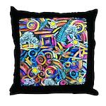 Curleys & Dragonflies Throw Pillow