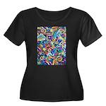 Curleys Women's Plus Size Scoop Neck Dark T-Shirt