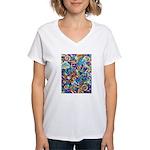 Curleys & Dragonflies Women's V-Neck T-Shirt