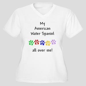 Water Spaniel Walks Women's Plus Size V-Neck T-Shi