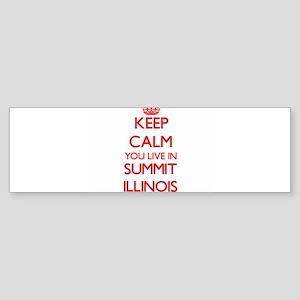 Keep calm you live in Summit Illino Bumper Sticker