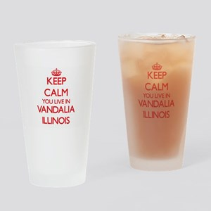 Keep calm you live in Vandalia Illi Drinking Glass