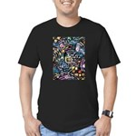 PS-Maze1 Men's Fitted T-Shirt (dark)