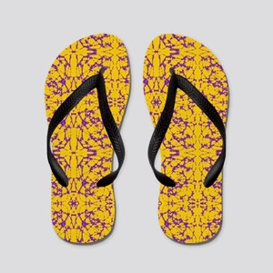 Gold and Purple Astral Flip Flops