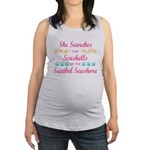 Sanibel shelling Maternity Tank Top