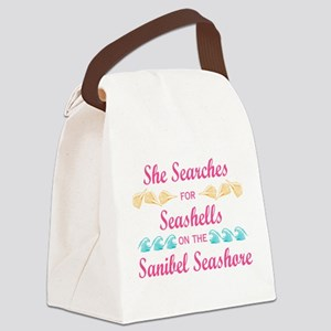 Sanibel shelling Canvas Lunch Bag