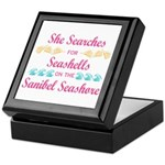Sanibel shelling Keepsake Box