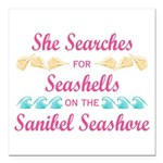 Sanibel shelling Square Car Magnet 3