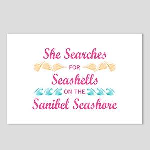 Sanibel shelling Postcards (Package of 8)