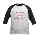Sanibel shelling Kids Baseball Jersey
