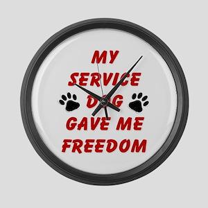 SERVICE DOG Large Wall Clock