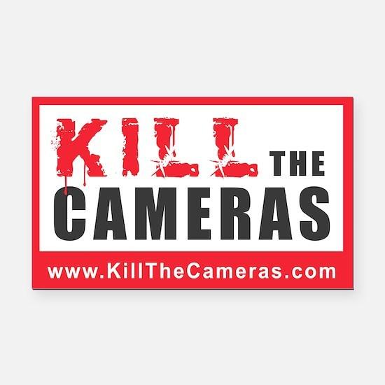 Kill The Cameras Rectangle Car Magnet