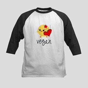 Vegan Love Kids Baseball Jersey