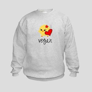 Vegan Love Kids Sweatshirt