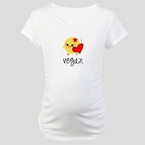 Vegan Love Maternity T-Shirt