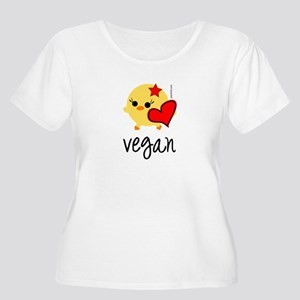 Vegan Love Women's Plus Size Scoop Neck T-Shirt