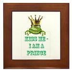 Frog Prince Framed Tile