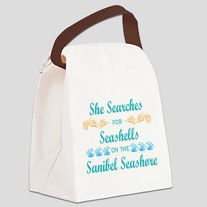 Sanibel shelling Canvas Lunch Bag