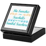 Sanibel shelling Keepsake Box