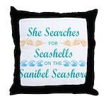 Sanibel shelling Throw Pillow