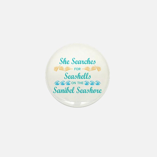Sanibel shelling Mini Button
