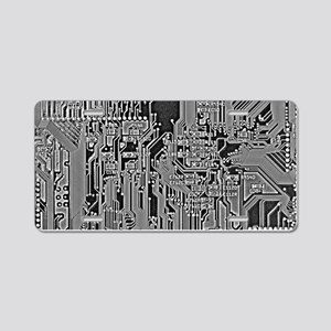 Circuit Aluminum License Plate