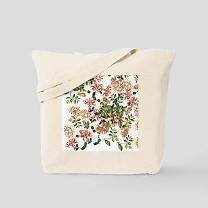 Honeysuckle Floral Botanical Flowers Tote Bag