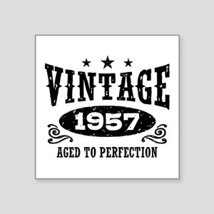 "Vintage 1957 Square Sticker 3"" x 3"""