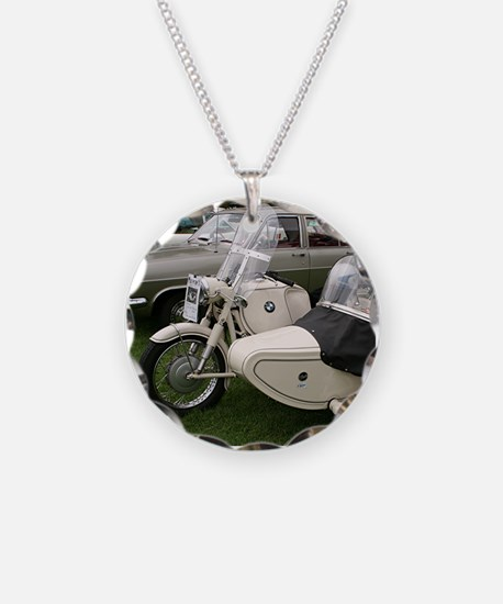 BMW Motorcycle with Sidecar Necklace