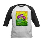 Flowers Keeping Cool Kids Baseball Jersey