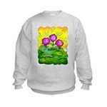 Flowers Keeping Cool Kids Sweatshirt