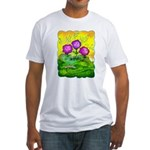 Flowers Keeping Cool Fitted T-Shirt