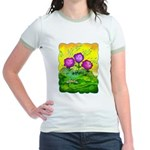 Flowers Keeping Cool Jr. Ringer T-Shirt