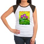Flowers Keeping Cool Women's Cap Sleeve T-Shirt